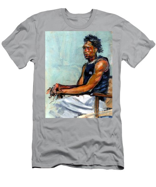 Male Figure Sitting Men's T-Shirt (Athletic Fit)