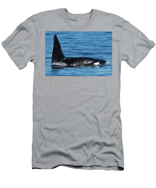 Men's T-Shirt (Slim Fit) featuring the photograph Lonesome George Ca165  Male Orca Killer Whale In Monterey Bay California 2013 by California Views Mr Pat Hathaway Archives