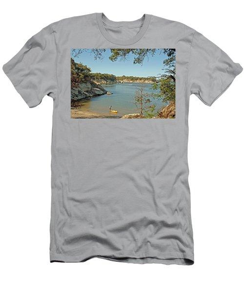 Man Going Kayaking Men's T-Shirt (Athletic Fit)