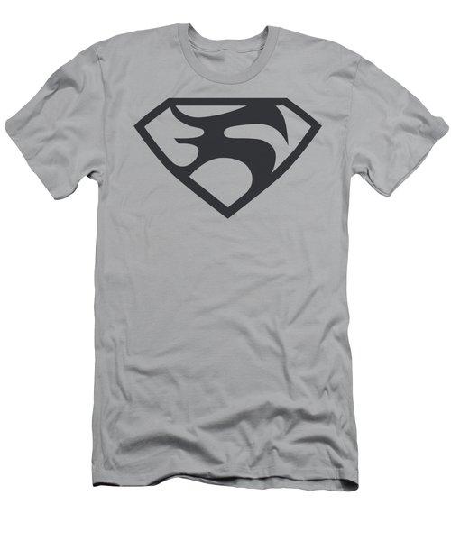 Man Of Steel - Black Shield Men's T-Shirt (Athletic Fit)