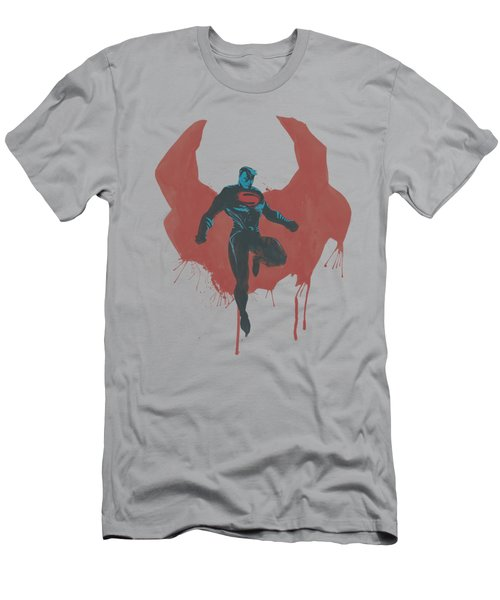 Man Of Steel - Paint Cape Men's T-Shirt (Athletic Fit)
