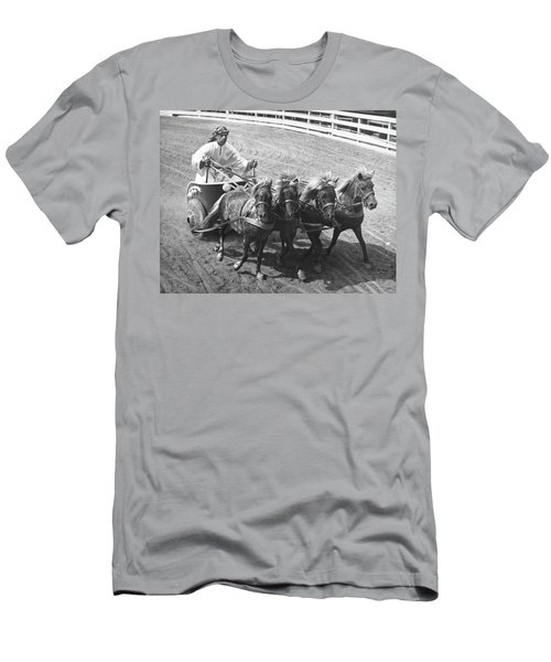 Man Riding In Chariot Men's T-Shirt (Athletic Fit)