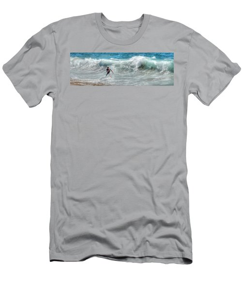 Man Vs Wave Men's T-Shirt (Athletic Fit)