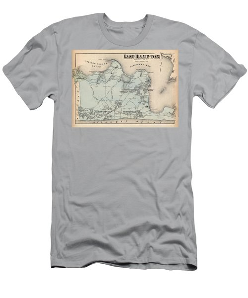 Map Of East Hampton 1873 Men's T-Shirt (Athletic Fit)