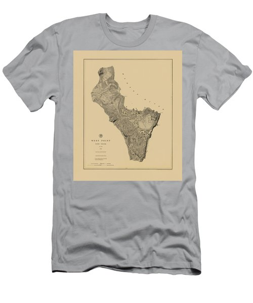 Map Of West Point 1883 Men's T-Shirt (Athletic Fit)