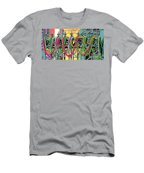 Mardi Gras On Fleur-de-lis Men's T-Shirt (Athletic Fit)