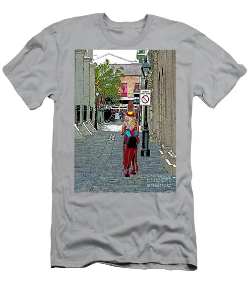Men's T-Shirt (Slim Fit) featuring the photograph Mardi Gras In French Quarter by Luana K Perez
