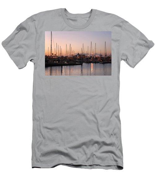 Marina Sunrise 12 Men's T-Shirt (Slim Fit) by Leticia Latocki