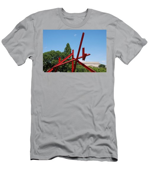 Mark Di Suvero Steel Beam Sculpture Men's T-Shirt (Athletic Fit)