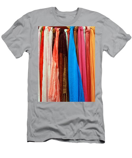 Men's T-Shirt (Athletic Fit) featuring the photograph Market Wares - Granada Spain by Rick Locke