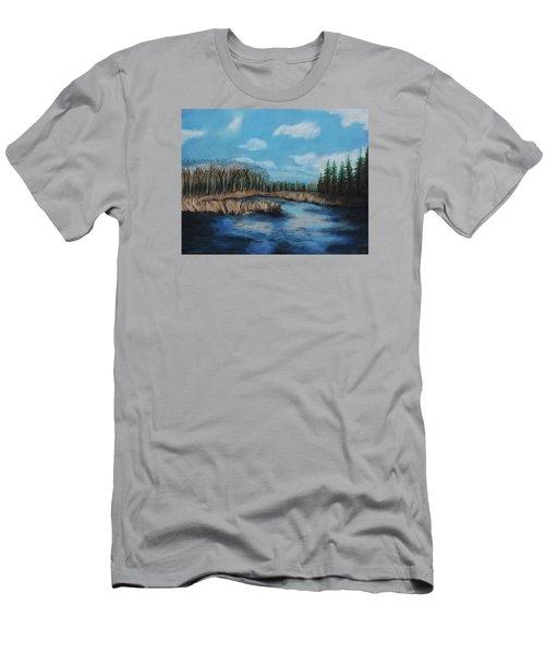 Marshland 1 Men's T-Shirt (Slim Fit) by Jeanne Fischer