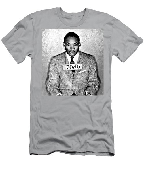 Martin Luther King Mugshot Men's T-Shirt (Athletic Fit)