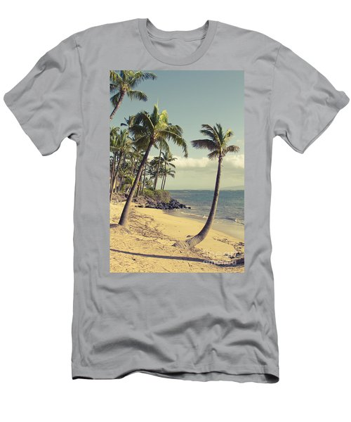 Men's T-Shirt (Athletic Fit) featuring the photograph Maui Lu Beach Hawaii by Sharon Mau