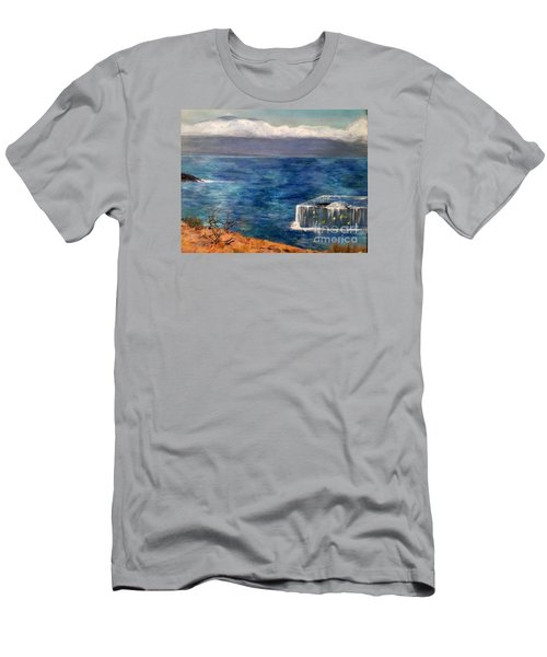 Men's T-Shirt (Slim Fit) featuring the painting Frida Goes To Maui by Vanessa Palomino