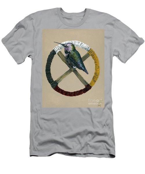 Medicine Wheel Men's T-Shirt (Slim Fit) by J W Baker