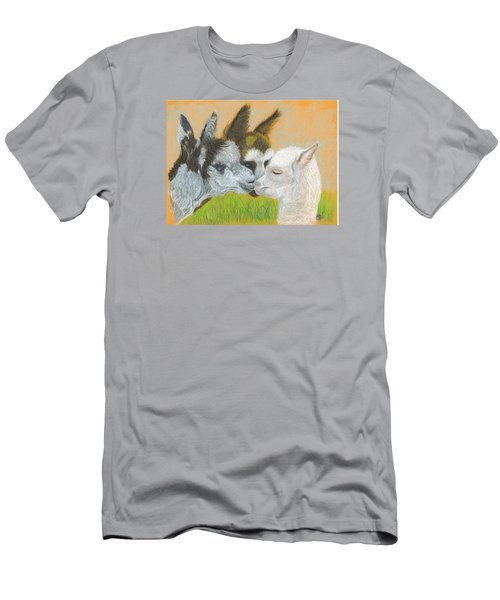 Men's T-Shirt (Slim Fit) featuring the drawing Meeting Uncle Al by Carol Wisniewski