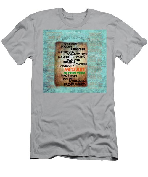Men's T-Shirt (Athletic Fit) featuring the digital art Men Who Found The Music by Gunter Nezhoda