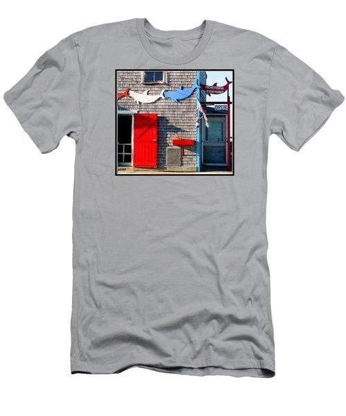 Menemsha Fish Market 3 Men's T-Shirt (Slim Fit) by Kathy Barney