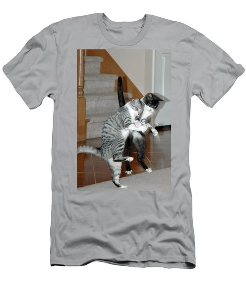 Meow Vows Men's T-Shirt (Athletic Fit)