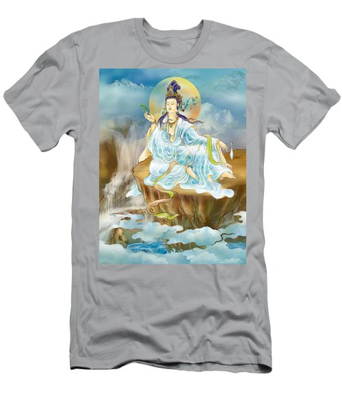 Men's T-Shirt (Slim Fit) featuring the photograph Merit King Kuan Yin by Lanjee Chee