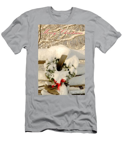 Men's T-Shirt (Slim Fit) featuring the photograph Merry Christmas by Alana Ranney