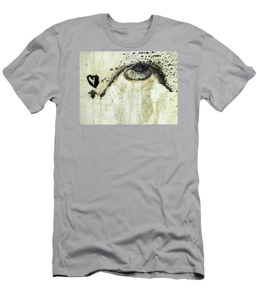 Men's T-Shirt (Slim Fit) featuring the photograph Message From An Aspen by Lanita Williams