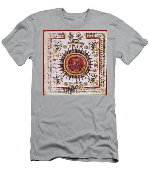 Mexico Aztec Calendar Men's T-Shirt (Athletic Fit)