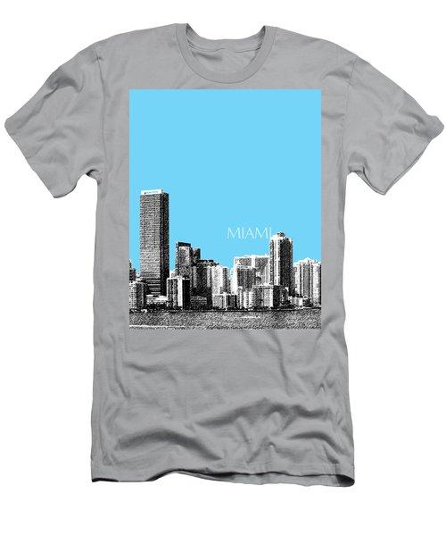 Miami Skyline - Sky Blue Men's T-Shirt (Athletic Fit)