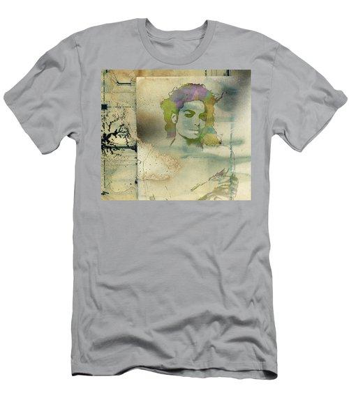 Michael Jackson Silhouette Men's T-Shirt (Athletic Fit)