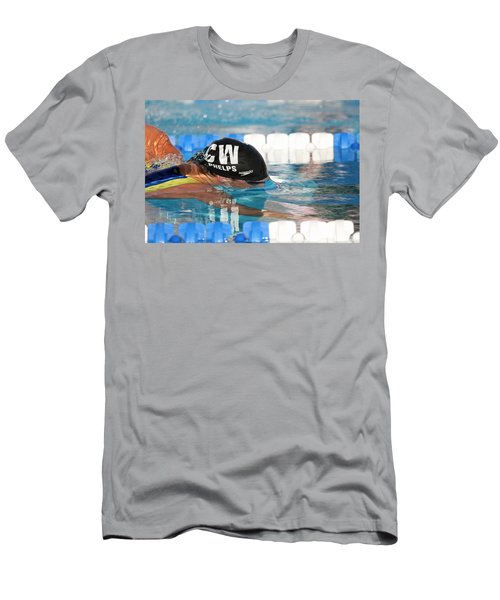Men's T-Shirt (Slim Fit) featuring the photograph Michael Phelps  by Duncan Selby