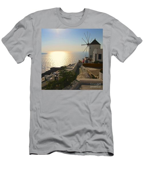 Midday On Santorini Men's T-Shirt (Athletic Fit)
