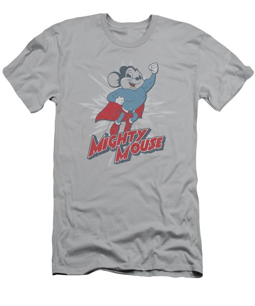 Mighty Mouse - Mighty Blast Off Men's T-Shirt (Athletic Fit)