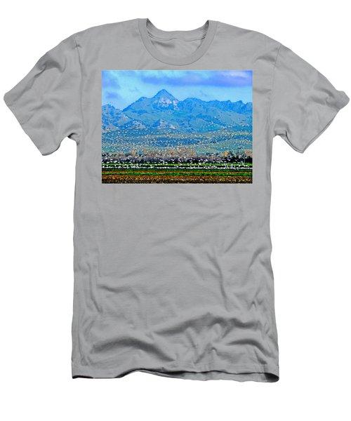 Migrating Birds Over Sutter Wilflife Refuge Men's T-Shirt (Athletic Fit)