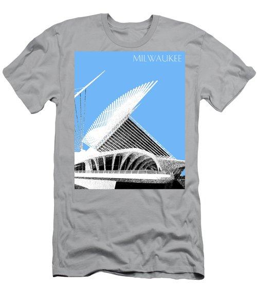 Milwaukee Skyline Art Museum - Light Blue Men's T-Shirt (Athletic Fit)