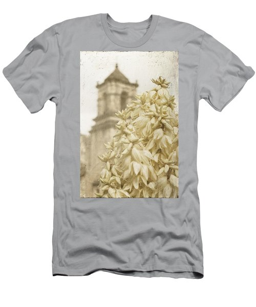 Mission San Jose And Blooming Yucca Men's T-Shirt (Athletic Fit)