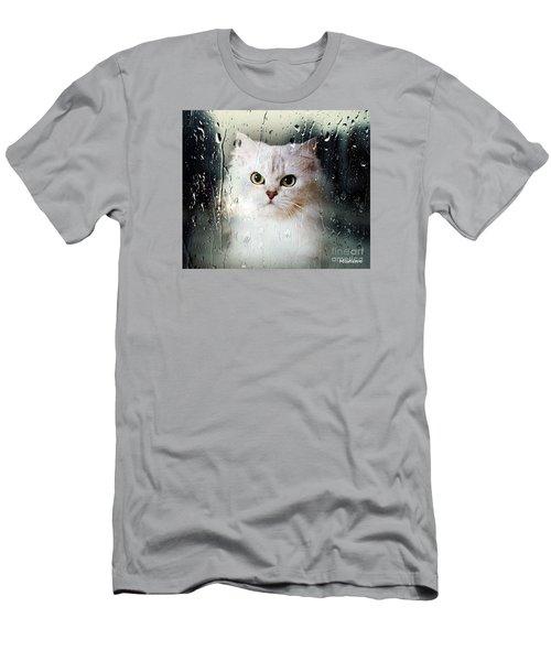 Mistletoe In The Window Men's T-Shirt (Athletic Fit)