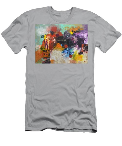 Moment Of Connection Men's T-Shirt (Slim Fit) by Sally Trace