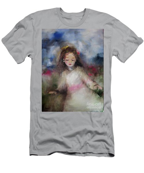Men's T-Shirt (Athletic Fit) featuring the painting Mommy's Little Girl by Laurie Lundquist