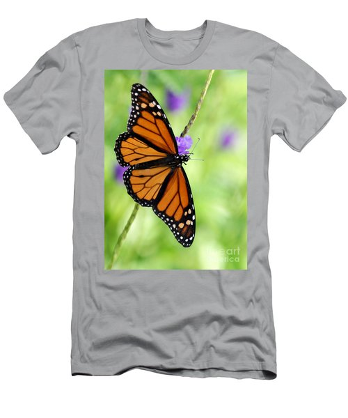 Monarch Butterfly In Spring Men's T-Shirt (Athletic Fit)
