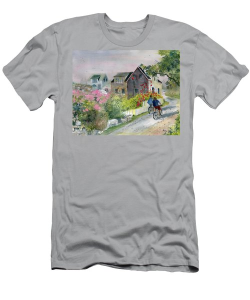 Monhegan In August Men's T-Shirt (Slim Fit) by Melly Terpening