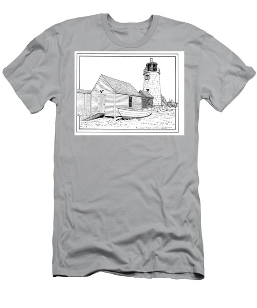 Monhegan Island Light Men's T-Shirt (Slim Fit) by Ira Shander