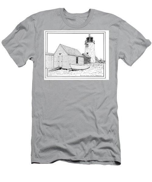 Monhegan Island Light Men's T-Shirt (Athletic Fit)