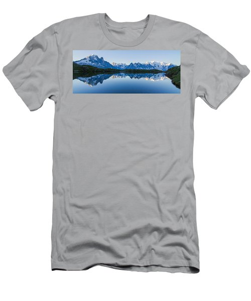 Mont Blanc Massif Panorama Men's T-Shirt (Athletic Fit)