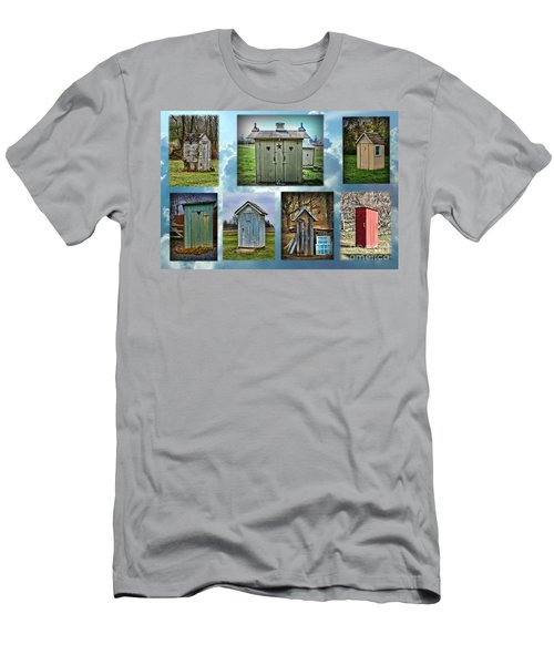 Montage Of Outhouses Men's T-Shirt (Athletic Fit)