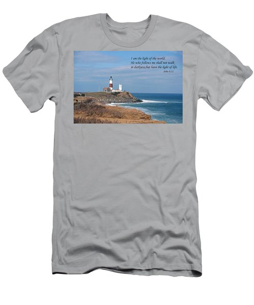 Montauk Lighthouse/camp Hero/inspirational Men's T-Shirt (Athletic Fit)