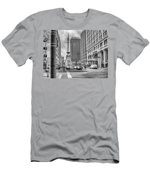 Men's T-Shirt (Slim Fit) featuring the photograph Monument Circle by Howard Salmon