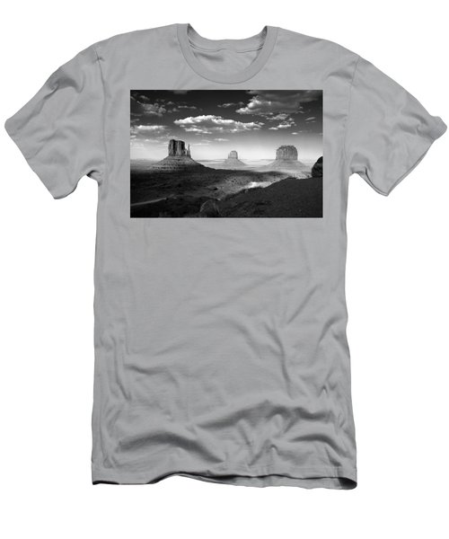 Monument Valley In Black And White Men's T-Shirt (Athletic Fit)
