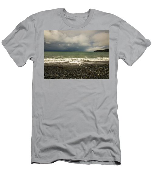 Moody Swirl French Beach Men's T-Shirt (Athletic Fit)