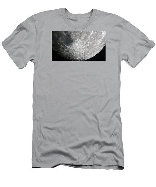 Moon Hi Contrast Men's T-Shirt (Slim Fit) by Greg Reed