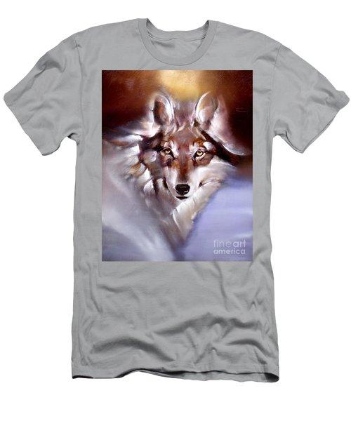 Moon Wolf Men's T-Shirt (Athletic Fit)
